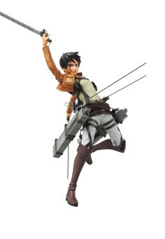 """Medicom Toy of Japan delivers the brave Eren Yeager from the anime Attack on Titan as a Real Action Hero (RAH)! This 12"""" action figure includes 2 interchangeable expressions and 2 interchangeable fron"""