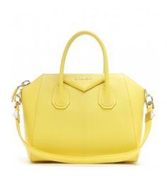 Gelbe Ledertasche Antigona Small By Givenchy