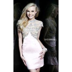 Illusion Short Blush Sherri Hill 21222 Homecoming Dress