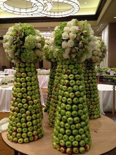 lady apple topiaries