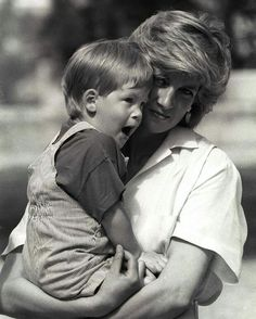 1987: Princess Diana with Prince Harry in Majorca, Spain (date RK).