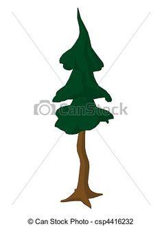 Cartoon Tree Art Illustration
