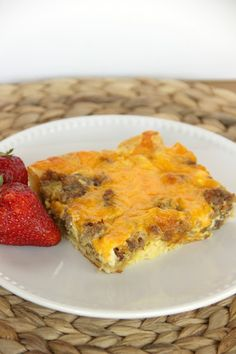 Breakfast Pizza Bake-Easy breakfast dish that doubles easily when you have a crowd to feed.
