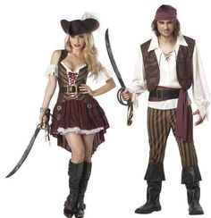 sexy swashbuckler rogue pirate adult couples set medium large size one size