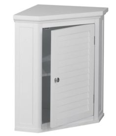 Corner Floor Cabinet Modern Bathroom Furniture Crown Molded Top