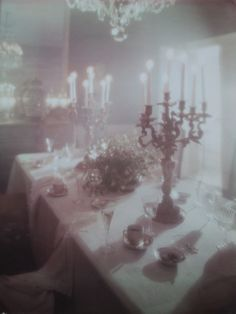 This is a photograph taken by photographer Edgar de Evia in the of the dining room in his home in the Rhinelander Mansion, Manhattan, New York City. Half Elf, Miss Havisham, The Ancient Magus, Night Circus, The Villain, Pics Art, Looks Cool, Oeuvre D'art, Ethereal