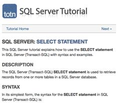 This SQL Server tutorial explains how to use the INSERT statement in SQL Server (Transact-SQL) with syntax and examples. The SQL Server (Transact-SQL) INSERT statement is used to insert a single record or multiple records into a table in SQL Server. Transact Sql, Learn Sql, Sql Server, Business Analyst, A Table, The Selection, Learning, Tools, School