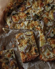 Pear, Manchego, & Red Onion Pizza | Sweet Paul Magazine