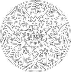 Mandala à colorier : Mandala Rond 11 - Mandala gratuit à télécharger, à imprimer et à colorier
