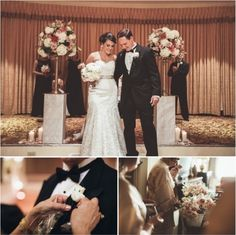 DC Real Wedding - Bergerons Flowers - Bergerons Event Florist Blog #TheMayflowerHotel #BrideAndGroom #Bouquet #Boutonniere #Wedding #Ceremony Photo Credit:  Justin Kunimoto Photography