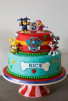 Paw Patrol Cupcakes, Paw Patrol Birthday Cake, Paw Patrol Cake, Paw Patrol Party, 4th Birthday Parties, 2nd Birthday, Birthday Ideas, Character Cakes, Cakes For Boys