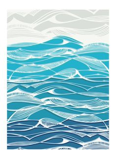 "Logo Discover ""Tempestuous Seas"" - Limited Edition Art Print by Gill Eggleston. Tempestuous Seas Wall Art Prints by Gill Eggleston Wave Drawing, Wave Art, Sea Art, Art Plastique, Japanese Art, Japanese Waves, Custom Art, Wall Art Prints, Illustration"
