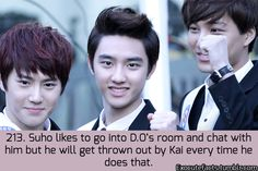 Kai wants alone time with his Kyungsoo.. Ayieee :""