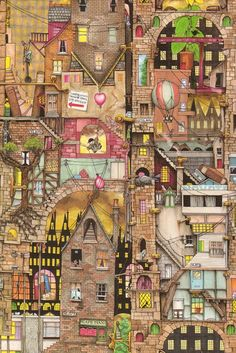 Colin Thompson: city scape