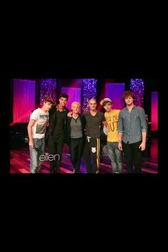 The Wanted meeting Ellen for the first time in 2012