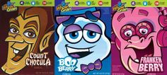 All of these thoughts of Halloween got me thinking.  One of the things I still look forward to is seeing the Monster Cereals arrive on the store shelf.  Frankenberry, Count Chocula and Boo Berry.  I'm in my 40s and still think these are a great part of the season.  I was a kid when they came out and back then they were not just out for Halloween.  I thought I remember a Werewolf one, but that apparently didn't do well as I never see it.  Just one of those simple things that bring back g