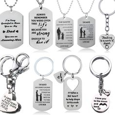 Gift For Mum Dad Son Daughter Sister Necklace Keyring Mother Mom Presents Family #Unbranded