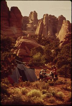 Devil's Garden Campground Is Beautifully Situated, Has Fireplaces, and Is Well - Maintained. Good Hiking Trails Begin Here, 05/1972 by The U.S. National Archives, via Flickr