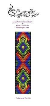 Free Printable Loom Beading Patterns | Loom Beading Pattern LifeWays PDF Instant Download by Beadwright