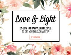 35 Low Fat Raw Vegan Recipes To Get You Through Winter
