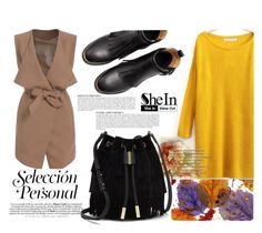 """""""Yellow with SheIn"""" by nerma10 ❤ liked on Polyvore featuring Anja, Vince Camuto and Sheinside"""