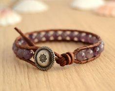 Bohochic single wrap layering bracelet. Purple by SinonaDesign, €21.00