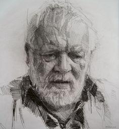 Colin Davidson. Crayon on paper 62cm x 57cm. My kind of sketch.