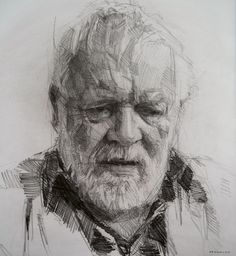 Colin Davidson. Crayon on paper 62cm x 57cm. My kind of sketch.