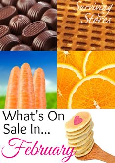 Find out which items are on sale in February!!  There will be lots of great price cuts at your local grocery stores!