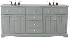 Special Offers - Fremont Double Vanity 34Hx72Wx22D GREY For Sale - In stock & Free Shipping. You can save more money! Check It (October 27 2016 at 01:44PM) >> http://bathroomvanitiesusa.net/fremont-double-vanity-34hx72wx22d-grey-for-sale/
