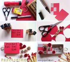 Tic Tac Toe: El 3 en Raya versión mini en caja de cerillas | http://papelisimo.es/tic-tac-toe-el-3-en-raya-version-mini-en-caja-de-cerillas/