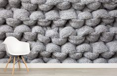 This would be a fabulous feature wall in a knitting room!