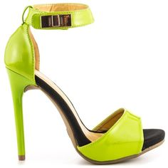 Naka - Lime Patent, by Shoe Republic L.A.