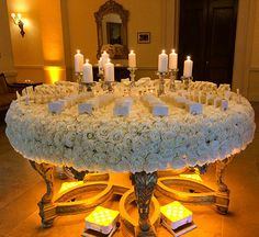 Up the Wow - factor at your reception with a flower-covered Escort card display table...