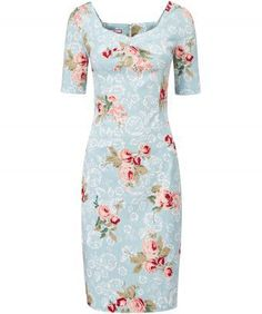 Bring a little vintage charm to your look with this stunning floral dress. We love the flattering shape, sleeves and the beautiful summer pastel colours. Very feminine and utterly fab. Approx Length: 102cm Our model is: 5'8""