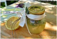Homemade Lemon And Lavender Scrub