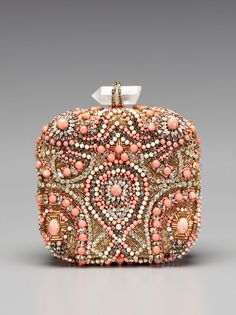 Betty Embroidered Box Clutch by Marchesa Handbags