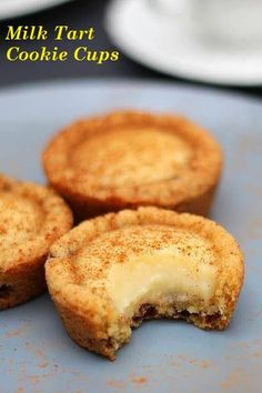Nothing beats milk tart and this recipe puts a spin on the South African favourite. Try these milk tart cookie cups for the ultimate treat. Tart Recipes, Baking Recipes, Sweet Recipes, Cookie Recipes, Dessert Recipes, Oven Recipes, Curry Recipes, Picnic Recipes, Picnic Ideas