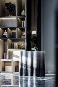 Find cost of reception desk only on this page Space Interiors, Dark Interiors, Hotel Interiors, Contemporary Interior, Modern Interior Design, Interior Architecture, Reception Desk Design, Restaurants, Ikea
