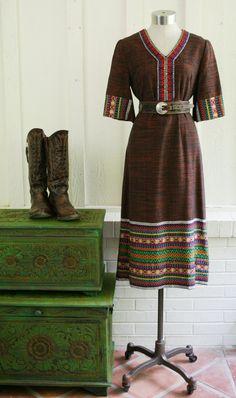 Love this!! Mas Fina - Circa 1970s - Embroidered Sheath - Mexican