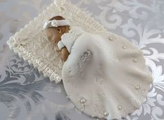 CHRISTENING BAPTISM Baby Girl Cake Topper by DinasCakeToppers, $40.00