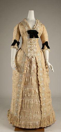 1875-78 ___ Dinner Dress by Mon. Vignon ___ silk & glass ___ French (Paris) ___ at The Metropolitan Museum of Art ___ photo 1