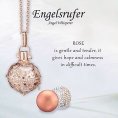 Rose is gentle and tender it gives hope and calmness in difficult times.  #Rose #StoneSet #Jewelelry #RoseGold #Soundball #Whisperer - Shop now for engelsrufer_uk_ireland > http://ift.tt/1Ja6lvu