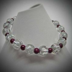 Clear Cracked Glass Stretch Bracelet with by LadyBirdJewelry, $16.00