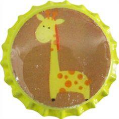 Baby Giraffe Bottle Cap by pc Giraffe Nursery, Dishes, Bottle, Baby, Tablewares, Flask, Baby Humor, Infant, Babies
