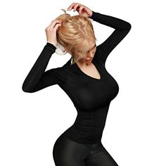 d9d43686e8e5b Winhurn Women Sexy High Elastic Sport Gym TShirt Yoga Top S Black >>> You