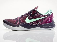 "The Nike Kobe 8 hits continue as we get a nice update from Nike regarding the sultry ""Pit Viper"" release. We first saw these some weeks ago at the Drew League, and recently NIKEiD gave the silhouette a boost by … Continue reading →"