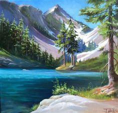 "Daily+Paintworks+-+""Melakwa+Lake""+-+Original+Fine+Art+for+Sale+-+©+Tatsiana+Mikhailava"