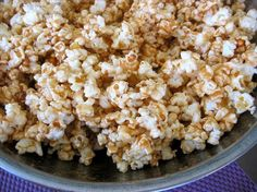 Microwave caramel popcorn !! So easy and delicious