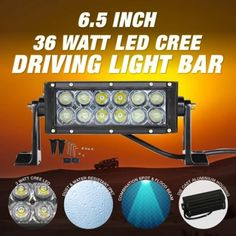 "$29 (was $99) LED Driving Light Bar 6.5"" 36W - Supercheap Auto - Bargain Bro"